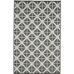 FabHabitat 810327024029 Manchester Teppich, 90 x 150 cm, paloma / weiß
