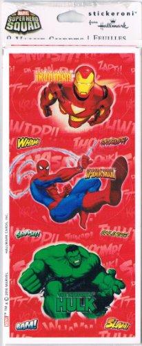 Hallmark Marvel Superhero Squad Stickers 8 Sheets - 1