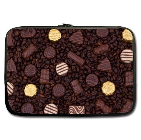 Custom Chocolates On Coffee Beans New Zip/Notebook Waterproof Handle Laptop Sleeve 14 Inch(Twin Sides)