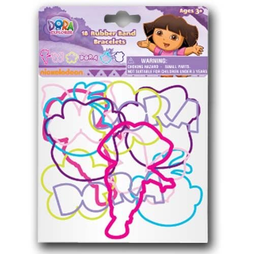 Dora The Explorer 18pk Rubber Band Bracelets