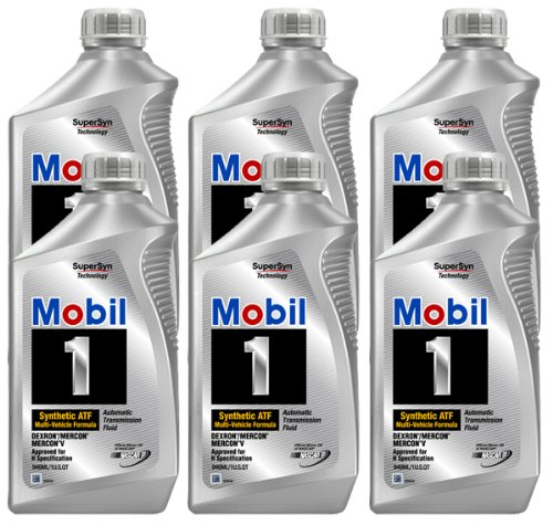 Mobil 1 Synthetic Automatic Transmission Fluid (6 Pack) (Transmission Fluid Mobile 1 compare prices)