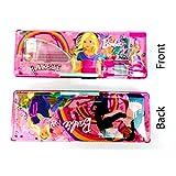 Bright Multi-colored Magnetic Pencil Box---Best Quality---KIDS MULTI PURPOSE PENCIL Box (S2) (Barbie)