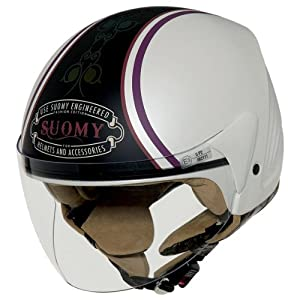 Suomy Open Face Helmet (Jet Light Morph White, Small)