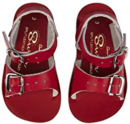 Salt Water Style 1700 Sun-San Surfer Sandal,Red,3 M US Infant