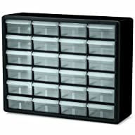 Akro-Mils 10124 24 Drawer Plastic Parts Storage Hardware and Craft Cabinet, 20-Inch x 16-Inch x…