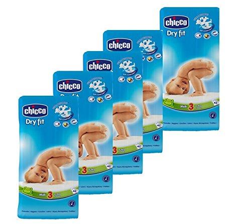 Chicco, Pannolini Dry Fit, misura 3 (4 - 9 kg), confezione mensile, 210 pz.