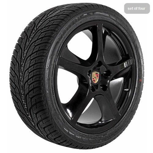 20 Inch black 125 Series Wheels Rims and Tires