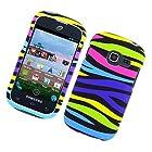 For Straight Talk Net10 SAMSUNG Galaxy Centura SCH-S738C Hard Case Rainbow Zebra