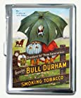 Vintage Bull Durham Tobacco Ad Cigarette Case Lighter Wallet Card Holder