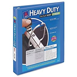 AVE17582 - Heavy-Duty View Binder w/Locking 1-Touch EZD Rings