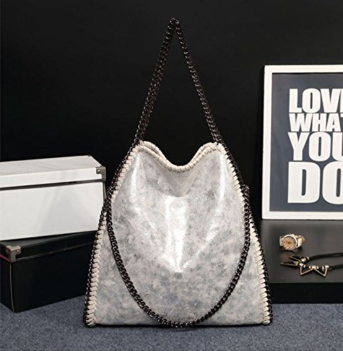 3-chain-handbag-stella-falabella-style-fold-over-bag-faux-leather-grey