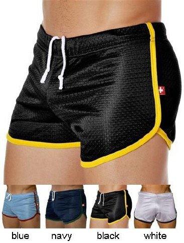 Mens gym fitness sports running shorts