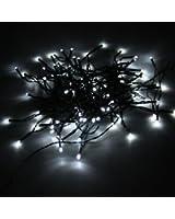 CroLED® GUIRLANDE SOLAIRE LUMINEUSE A 100 LED BLANC DECO Noël