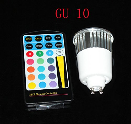 Hitlights Bluelux Multicolor Rgb 5 Watt Mr16/Gu10 Led Bulb - 10 Year Lifespan, Includes Remote With Memory Function - 16 Colors, 120V Ac (Great For Christmas Decoration)
