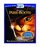 Puss in Boots (Three-Disc Combo: Blu-ray 3D/Blu-ray/DVD/Digital Copy) from DreamWorks Animated