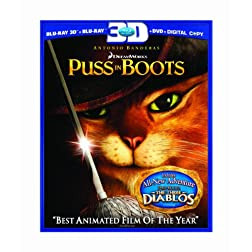 Puss in Boots (Three-Disc Combo: Blu-ray 3D/Blu-ray/DVD/Digital Copy)