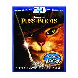 Puss in Boots (Three-Disc Combo: Blu-ray 3D/Blu-ray/DVD/Digital Copy)