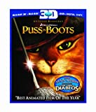 Cover art for  Puss in Boots (Three-Disc Combo: Blu-ray 3D/Blu-ray/DVD/Digital Copy)