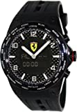 Ferrari World Time Swiss Made Men's Black Dial Analog Digital Watch FE-05-IPB-FC
