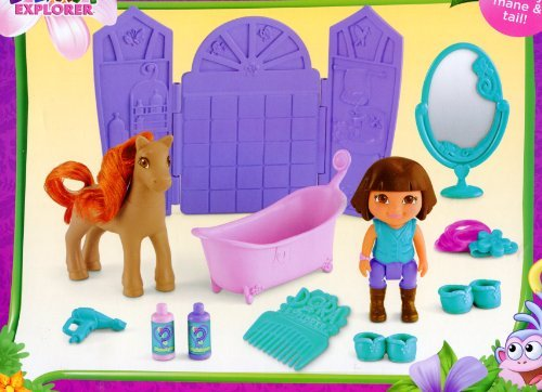 Pony Salon ** Dora the Explorer Play Set ** Dora & Horse Figures + Extras - 1
