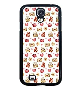 Fuson Premium 2D Back Case Cover Love letter pattern With blue Background Degined For Samsung Galaxy S4::Samsung Galaxy S4 i9500