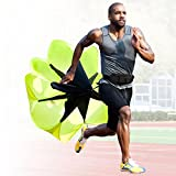 Speed and Stamina Increasing Resistance Parachute for Kids and Adults by High Pulse ideal for Agility Training, Speed Training | Speed Chute Essential for Athletic Training MEDIUM 60 INCHES