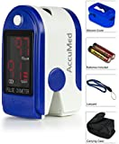 AccuMed® CMS-50DL Pulse Oximeter Finger Pulse Blood Oxygen SpO2 Monitor w/ Carrying case, Landyard & Battery FDA CE Approved
