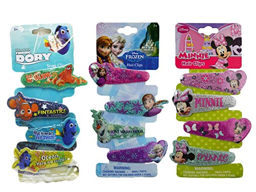 Disney Hair Glitter Barrettes Assorted Pack (4 Year Old Accesories compare prices)