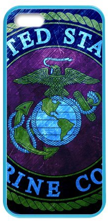 Lilichen Cool Design Forever Collectible Usmc Marine Corps Case Cover For Iphone 5/5S(Laser Technology) -- Desgin By Lilichen