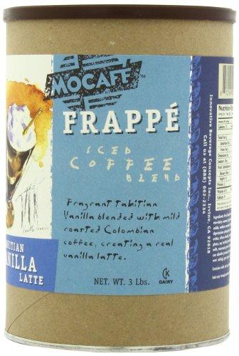 MOCAFE Frappe Tahitian Vanilla Latte, Ice Blended