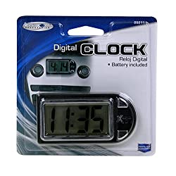 Custom Accessories 25211 Onyx Digital Clock