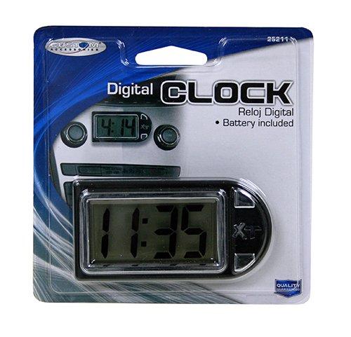 Custom Accessories 25211 Onyx Digital Clock