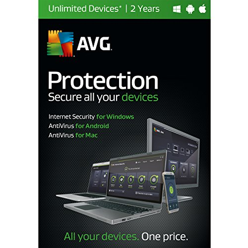 AVG Protection | Unlimited Devices| 2 Years (Avg Antivirus Software compare prices)