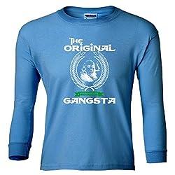 The Original Gangsta Gangster Benjamin Franklin Youth Long Sleeve T-Shirt