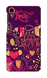KnapCase Love Designer 3D Printed Case Cover For HTC Desire 820