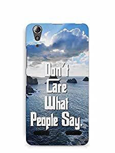 YuBingo Don't Care What People Say Designer Mobile Case Back Cover for Lenovo A6000 Plus