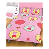 "Complete Peppa Pig Spiral Bedding Set Includes Double Duvet Cover, Towel, Fleece And 66x72"" Curtainby Matching Bedroom Sets"