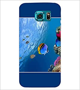 PrintDhaba Fish D-1396 Back Case Cover for SAMSUNG GALAXY S6 (Multi-Coloured)