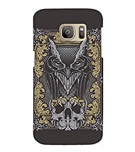 Fuson Premium Back Case Cover Devil With Brown Background Degined For Samsung Galaxy S7::Samsung Galaxy S7
