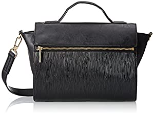 French Connection Celestial Satchel,Black,One Size
