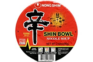 Nong Shim Shin Bowl Noodle Soup (Gourmet Spicy) - 3.03oz - 86g (Pack of 6) from Nong Shim