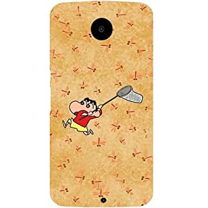 Casotec Shin Chan Pattern Design Hard Back Case Cover for Motorola Nexus 6