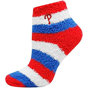 MLB Philadelphia Phillies Women's Fuzzy Sleep Socks, (shoe sizes 6-11)