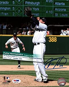 Felix Hernandez Autographed Hand Signed 8x10 Photo Seattle Mariners Perfect Game PSA... by Hall of Fame Memorabilia