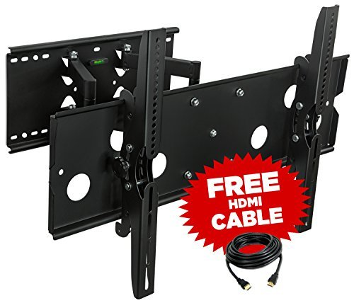 Mount-It! MI-310B TV Wall Mount Bracket Heavy Duty Articulating Full Motion for LCD LED Plasma HDMI Cable Included, Black (How To Make A Time Mi compare prices)