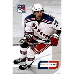 (24x36) New York Rangers (Chris Drury) Sports Poster Print