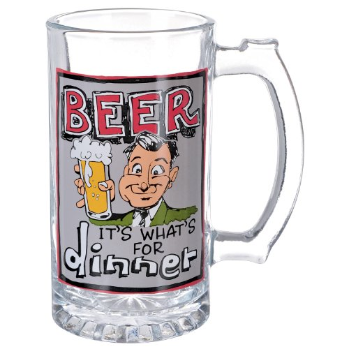 "Grasslands Road Times Are Changing ""Beer It's What's For Dinner"" 15-Ounce Glass Beer Stein"