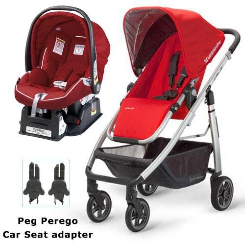 UPPAbaby 0071DNY Cruz Stroller with Matching Peg Perego Car Seat and Adapter - Denny