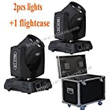 shipping from US 2pcs 230w Beam 7R Zoom Moving head Light Gobos 8 Prism with flightcase