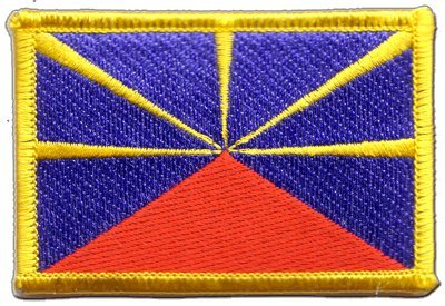 cusson brod flag patch france r union 8 x 6 cm football objets d coratifs. Black Bedroom Furniture Sets. Home Design Ideas
